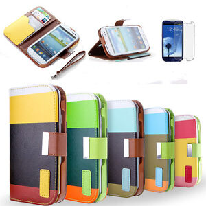 Samsung Galaxy S3 i9300 Slim Wallet Credit ID Card Flip Leather Pouch Case Cover