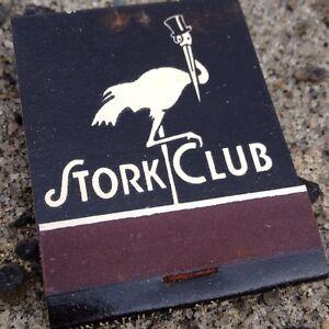 Vintage & Original STORK CLUB matchbook NYC collectible New/Rare/Mint! Unused!