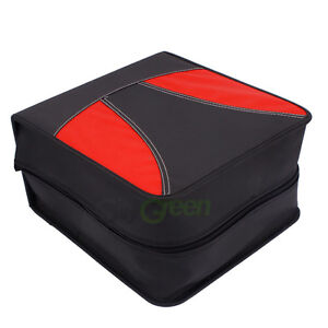 512 Disc CD DVD Wallet Holder DJ Storage Case Bag Album Nubuck leather Black Red