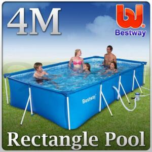 Bestway Above Ground Swimming Pool 4m Splash Frame Flowclear Filter Pump