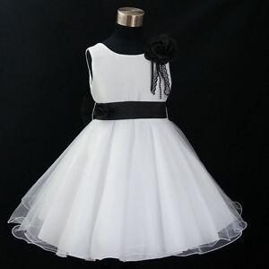 688 Christmas  Wedding Party Flower Girls Dresses Sz 1,2,3,4,5,6,7,8,9,10,11,12Y