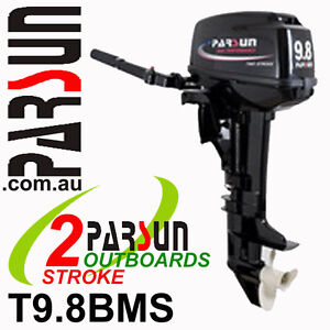 9-8HP-PARSUN-Outboard-2-stroke-Short-Shaft-BRAND-NEW-2yr-FULL-FACTORY-Warranty
