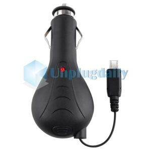 Retractable Car Charger for HTC Evo 4G / Evo Design 4G / Evo Shift 4G / Evo 3D