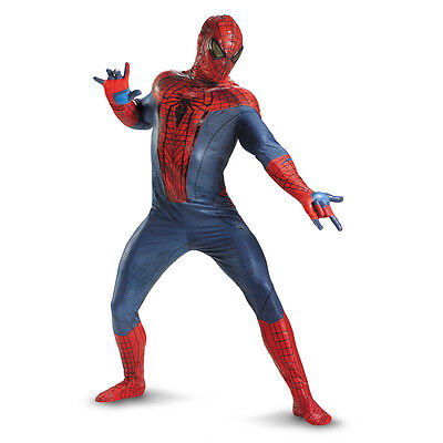 The Amazing Spider Man Costume Adult (Adult Marvel Comics Movie The Amazing Spider-man Elite Theatrical Hero)