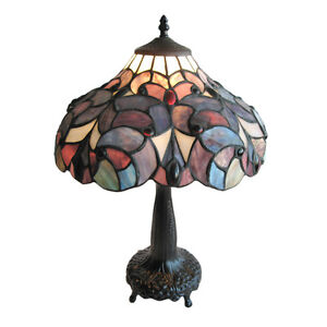 LEADED-STAINED-GLASS-TABLE-LAMP-14-5-X-20