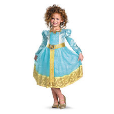 Child Toddler Movie Brave Disney Princess Merida Archer Deluxe Dress Costume