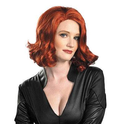 Adult Marvel Comics Movie The Avengers Black Widow Agent Red Hair Costume Wig