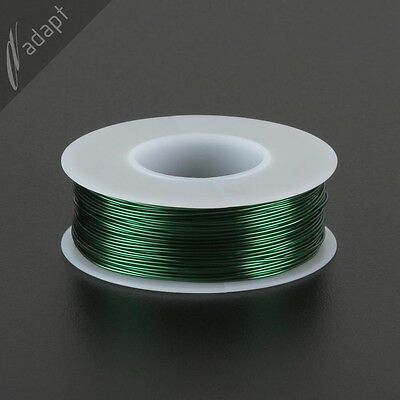 23 AWG Gauge Magnet Wire Green 156' 155C Solderable Enameled Copper Coil Winding