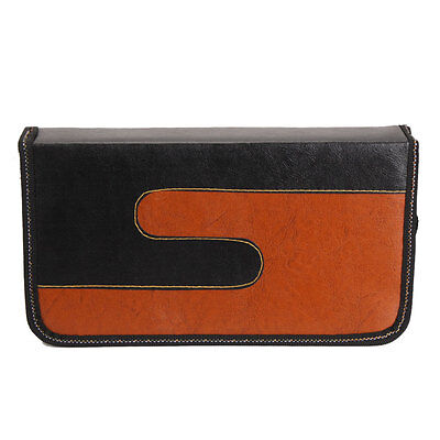 80 Disc CD VCD DVD Music DJ Album Storage Bag Holder Case Wallet Black & Orange