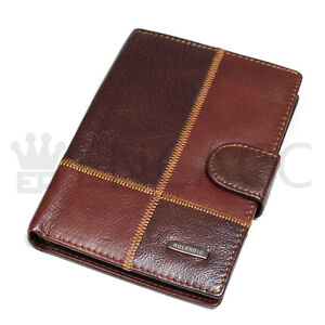 New Genuine Cowhide Leather Passport Wallet Purse in Vintage Fashion J562/552