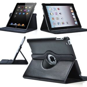 Black-360-Rotating-Magnetic-PU-Leather-Case-Smart-Cover-For-New-iPad-3-iPad-2