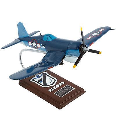 Usmc Vought F4u-1a Corsair Pappy Boyington Desk Display Model 1/26 Es Airplane