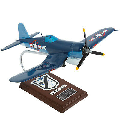 Usmc Vought F4u-1a Corsair Pappy Boyington Desk Display Model 1/26 Es Airplane