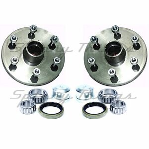 Hubs-PAIR-4WD-6-stud-LANDCRUISER-with-FORD-bearings-Caravan-Trailer-Parts