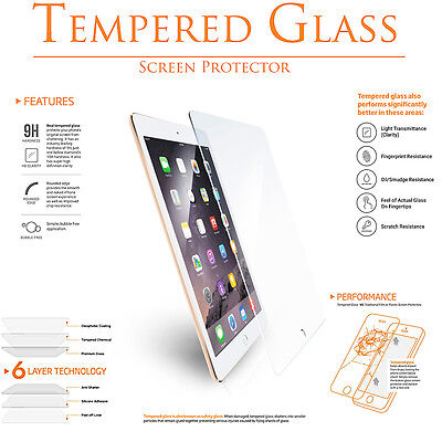 "Premium Tempered Glass Clear Screen Protector for Apple iPad Pro 9.7"" Retina"