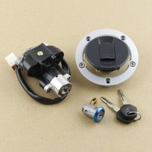 Ignition Switch Fuel Gas Cap Seat Lock Key Set for Suzuki GSXR600 750 1000 03-15