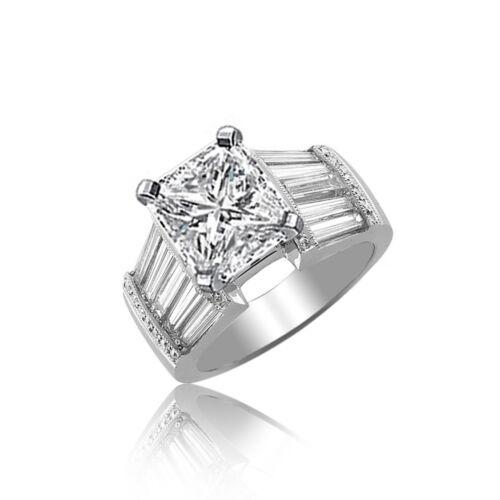 Diamond Engagement Ring GIA Certified 2.25 Carat Radiant Cut 18k White Gold