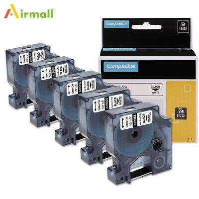 5pk 18055 Industrial Heat Shrink Tube Label Tape Compatible Dymo Rhino 4200 5200