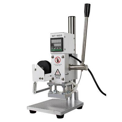 Hot Foil Stamping Machine 5x7cm Leather Bronzing Pressure Mark Machine Full Scal