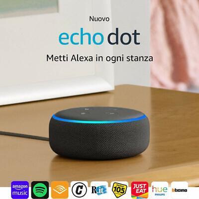 Echo Dot 3ª generazione - Altoparlante intelligente con integrazione Alexa