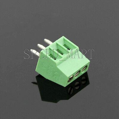 3 Poles3 Pin 2.54mm 0.1 Pcb Universal Screw Terminal Block Connector