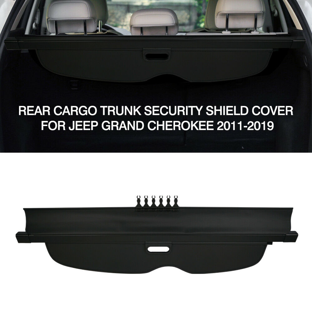 For 2019 Jeep Grand Cherokee Retractable Cargo Cover Trunk Privacy Shade Black
