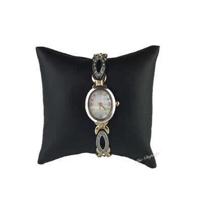 Display Pillow (BLACK LEATHERETTE BRACELET PILLOW DISPLAY SHOWCASE WATCH PILLOW DISPLAY 4