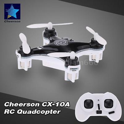 Cheerson CX-10A 2.4GHz 4CH RC Quadcopter NANO Drone Headless Mode BLACK 46EE
