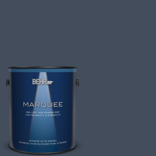 Behr Marquee 1 Gal Mq4 23 Aloha One Coat Hide Satin Enamel Interior Paint For Sale Online Ebay