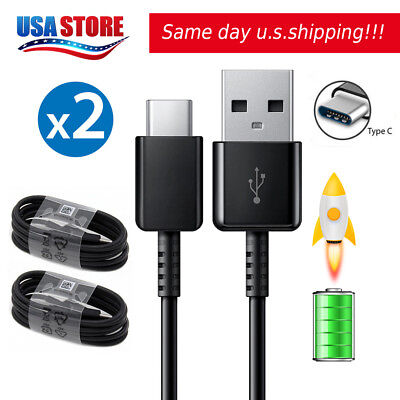 2X For Samsung Oem Usb C Type C Cable Fast Charging Cord Galaxy S8 Note 8 Lg G6