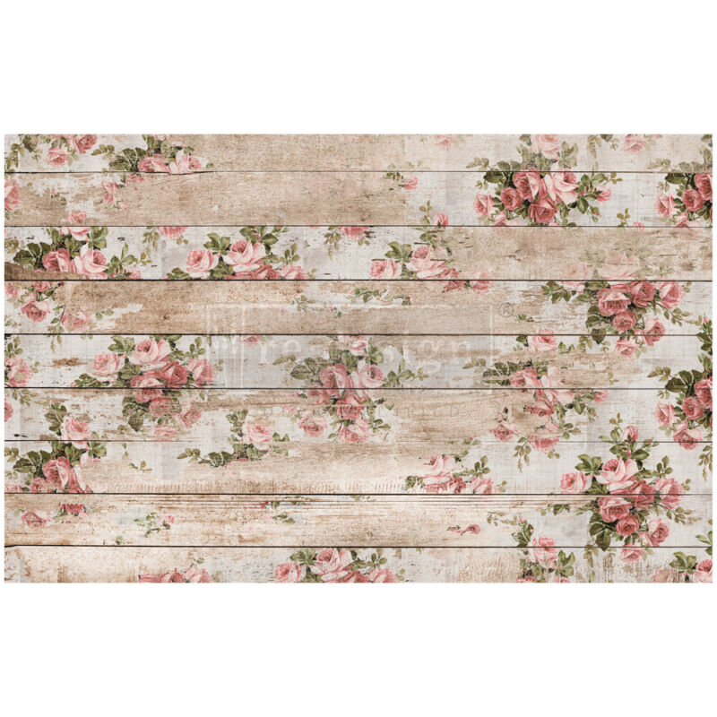 SHABBY FLORAL Decoupage Paper by redesign with Prima!