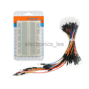 400-Tie-Point-Solderless-Prototype-breadboard-65pcs-Male-to-Male-Jumper-Wire