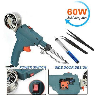 110v 60w Automatic Send Tin Gun Electric Soldering Iron Rework Station Tools
