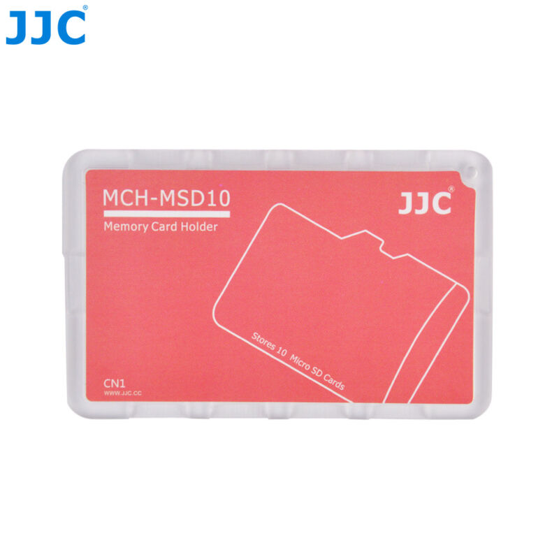 """JJC 0.1"""" UltraSlim Compact Wallet Memory Card Holder for 10 Micro SD MSD Cards"""