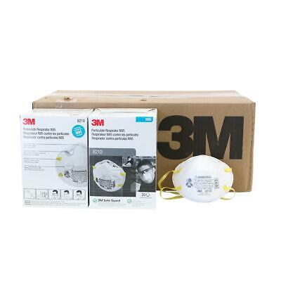 3m 8210 N95 Particulate Respirator 1 Case 8 Boxes160 Total Masks Exp. 052026