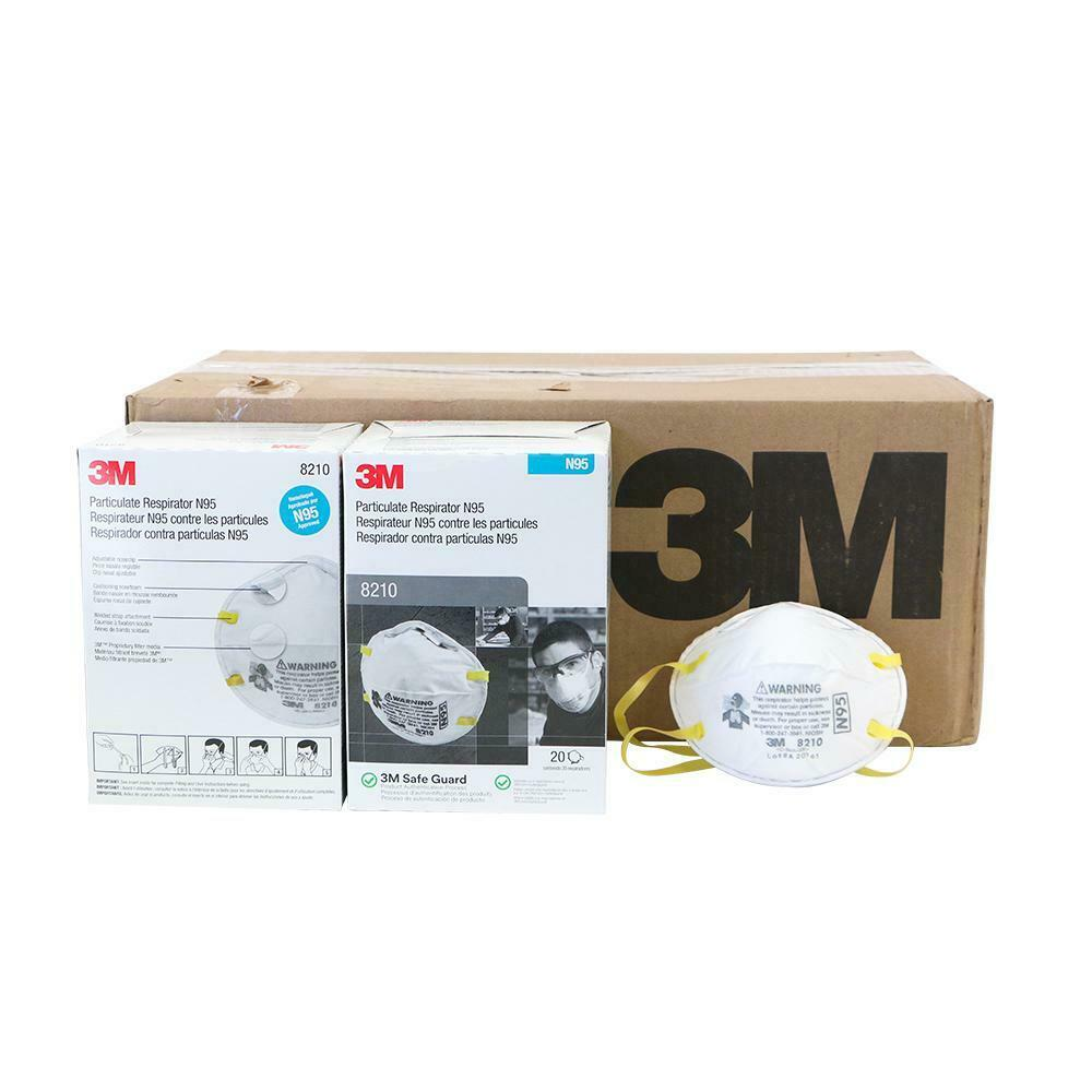 3M 8210 N95 Particulate Respirator, 1 Case 8 Boxes/160 Total Masks, EXP. 05/2026 Business & Industrial