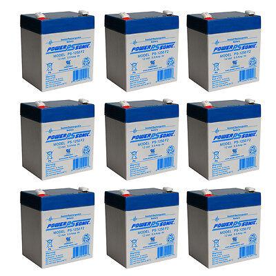 POWER SONIC 9 Pack - B&b Battery Hr5.5-12-f2 - 12.00 Volt...