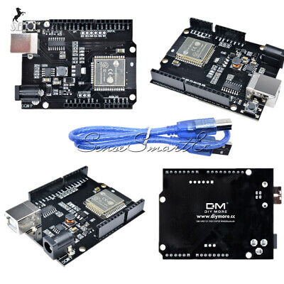Esp32 4mb Flash Wifibluetoothuno Wemos D1 R32 Ch340 Shield Usb-b 30cm Cable
