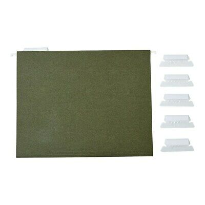 Staples Hanging File Folders 5-tab Letter Standard Green 50box 266262