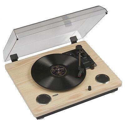 Turntable Record Player 33 45 78 Vinyl Transfer Stereo Speakers USB NEW Zennox