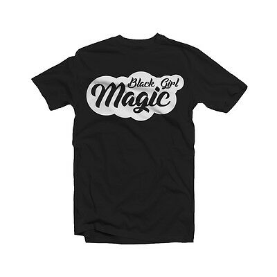 Black Girl Magic T- Shirts Black Natural Chocolate Women Lady Afro Curls