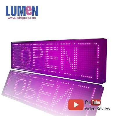 8 X 27 Pink Indoor Programmable Led Scrolling Sign Moving Message Window P10