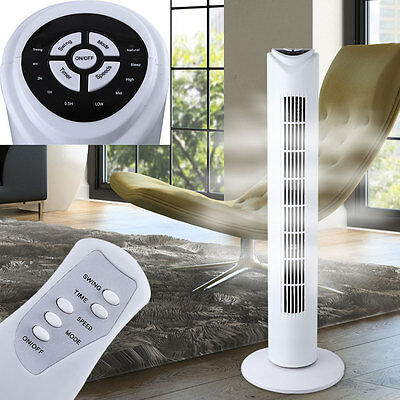 Design Turm Ventilator Klima Lüfter Timer Oszillierend Fernbedienung 3 Stufen