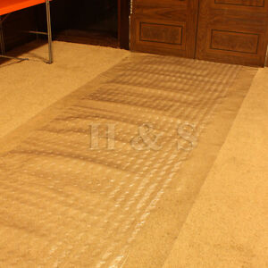 vinyl plastic carpet protector runner office hallway film mat roll