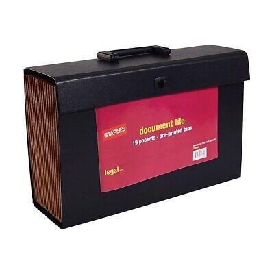 Staples Expanding File A-Z Index Legal Size 19-Pocket Black (20540-US) -