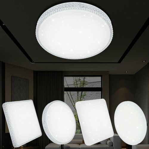 12W-60W LED Deckenlampe Deckenleuchte Beleuchtung Wohnzimmer Badlampe Dimmbar