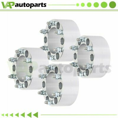 "3"" 4Pcs Wheel Spacers 6x5.5 12x1.5 Studs For Toyota Tacoma 4Runner Silver"