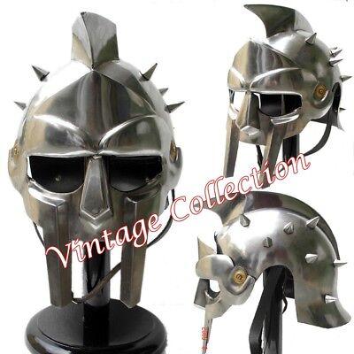 elm Roman Ritter Maximus Kostüm Rüstung eisernen Helm (Roman Gladiator Helm)