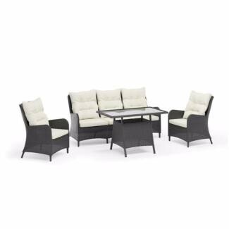 Palma 4pc Outdoor PE Wicker Sofa Setting   Grey. $859.00. Seven Hills Part 7