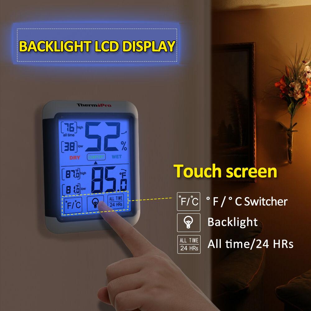 Купить Digital Hygrometer Indoor Humidity Thermometer and Back-light Humidity Monitor